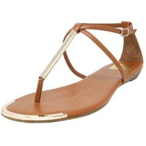 Dolce Vita Archer Cognac Ankle Strap Sandals 12